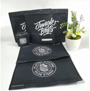 Aluminum Foil Zip Lock Plastic Bags Black Matte Rotogravure Printing With Window