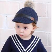 China Baby autumn and winter hat lattice hat fashion British style soft hat children