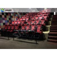China Playground Center 4D Local Movie Theaters Electric System With Blue Movement Chairs wholesale