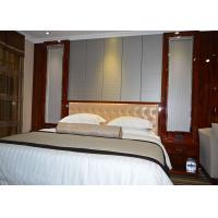 Custom Rosewood Shiny Color Finish Star Hilton Hotel Bedroom Furniture