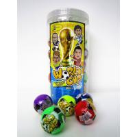 China The Word Cup Theme healthy hard candy / 6g multi fruit flavor football shape hard candy in jars wholesale