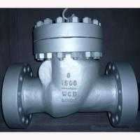 China 8 Inch Cast Steel Swing Check Valve Flange Type 1500 LB ASTM A216 WCB,HF Stellite Seat on sale