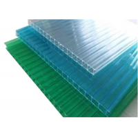 China Colored Twinwall  Polycarbonate Sheet Construction Building Materials on sale