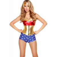 China Hero Costumes Wholesale Polyester Spandex PVC Comic Book Heroine Costume with size S to XXL on sale