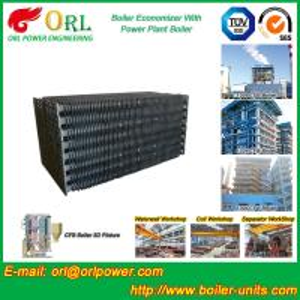 China Power Plant CFB Boiler Economizer Tubes / Economizer Heat Exchanger wholesale