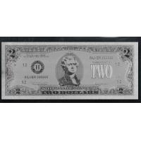 China US Silver Plated Gift $2 Silver Bill Note wholesale
