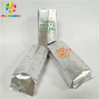 China Waterproof Foil Pouch Packaging Stand Up Coffee Bag Gravnre Printing With Vent wholesale