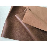China 139 CM Width Light Brown Leather Upholstery Fabric Waterproof For Household wholesale
