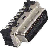 China 1.27mm Computer Pin Connectors Male DIP SCSI Connector LCP 30%GF UL94V-0 Gold Flash/Sn wholesale
