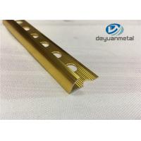 China Hole Punched Shiny Golden Aluminium Trim Round Floor strip Profile wholesale