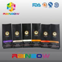 China Black 70g 100g 250g 500g Plastic Pouches Packaging Stand Up Coffee Bean Bag With Valve wholesale