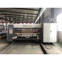 China Lead Edge Flexo Printer Slotter Die Cutter With Folder Gluer In Line / Case Maker Machine wholesale