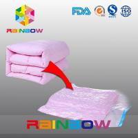 China Clear Quilt Compressed Food Vacuum Seal Bags / Costom Plastic Vacuum Storage Pouches wholesale