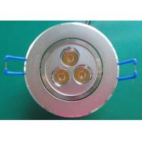 China High Brightness 3*1W Led Ceiling Downlights with vibration-resistant for conference rooms wholesale