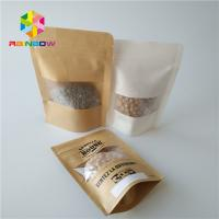 China Stand Up Snack Food Packaging Bags Zip Lock Clear Plastic Pouch Transparent With Window wholesale
