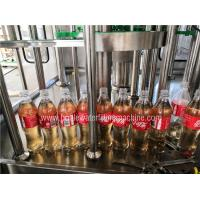 Auto Carbonated Drink Filling Machine , Flavored Energy Drink Juice Bottling Machine