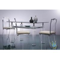 China acrylic breakfast bar table and chairs wholesale
