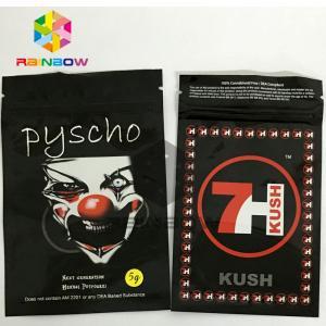 China Aluminum Foil 7H Kush Herbal Incense Bag 3g 4g 6g 10g Custom Printed wholesale