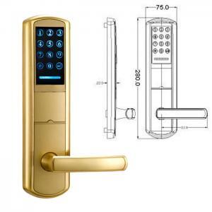 China High Security Zinc Alloy Door Handle Lock Smart Key Password intelligent Door Lock wholesale
