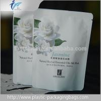 China White Plastic Aluminum Foil Stand Up Pouch Bags With Zip Lock Round Corner wholesale
