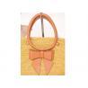 Quality Autumn Yellow Raffia Handbags / Cowhide Handbags For Church , 27cm x 37cm for sale