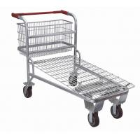 China Supermarket Shopping Trolley ,Retail Logistics Trolley With Zinc Plated Surface wholesale