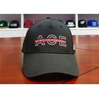 China ACE Men Women Solid Color Custom Creative Silk Print Logo Custom Curve Brim Baseball Cap Hat wholesale