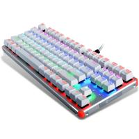 China 3 Color 87 Keys Ergonomic Gaming Keyboard With LED Backlight Blue Switch wholesale