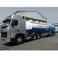 China 30m3 water tank semi trailer, 3 axles, loading 30t, 3-4 departments, can equip with a pump, carbon steel wholesale