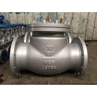 "China Flanged 300 Lbs RF STL 13Cr Trim BB check valve swing type Dia 3"" Mat ASTM A 216 Grade WCB wholesale"