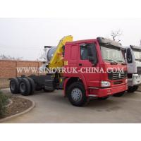 China Reliable Truck Mounted Hoist / LHD 336HP Lorry Mounted Crane For Goods Lift wholesale