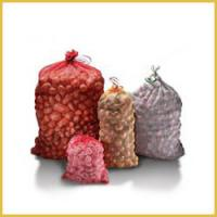 China Reusable Drawstring Woven Mesh Bags For Packing Vegetables And Fruits 20kg - 50kg wholesale