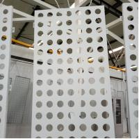 China aluminium perforated round hole facade and ceiling panel  screen wholesale