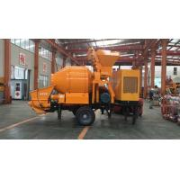 China Trailer Mobile Concrete Mixer with Pump with 100m Steel Delivery Pipe Line on Sale wholesale