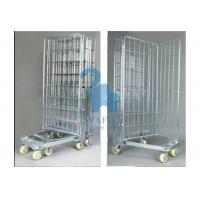 China Galvanized Wire Mesh Security Cage , Turn Over Type Rolling Security Cage wholesale