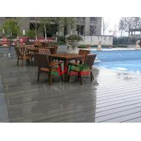 Outdoor WPC Garden Decking Recyclable 100% Mildew Proof Environmental Friendly