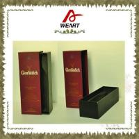 China Luxury Black Cardboard Paper Wine Top And Bottom Rigid Gift Boxes Without Handle wholesale