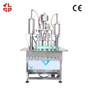 China Aerosol Can Body Spray Filling Machine , 3 In 1 Aerosol Bottle Filling And Capping Machine wholesale