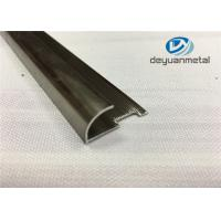 China 6063 T5 Round Aluminium Floor Strips Extrusion Profile With Polishing Champagne wholesale