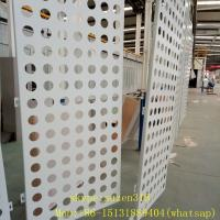 China aluminum powder coating white perforated metal sheet panels for walls wholesale