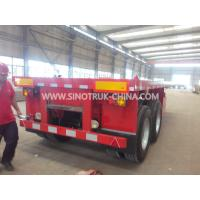 Buy cheap 40 Feet Container Carrying Flat Bed Heavy Duty Semi Trailers 3 Axles 30-60 Tons from wholesalers