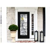 China Natural Lighting Elegant Inlaid Wrought Iron Door Glass For Building Hand Forged Dignified wholesale