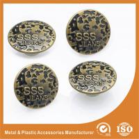 China Antique Brass Jeans Buttons Metal Magnetic Nickel Free Washable Round No Hole Screw wholesale