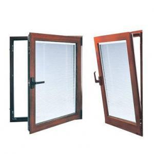 China Energy Saving Hurricane Proof Glass Aluminum Frame Double Glazed Tilt and Turn Windows wholesale