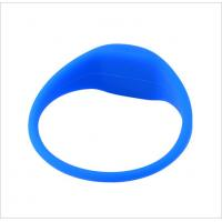 China Durable Passive G03(Curve in the Head,Oval Shape for Both Sides) RFID Silicone Wristband or Bracelets wholesale