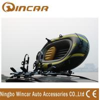 China Foldable Roof-mount Metallic-white T style Kayak Roof Carrier rack carring 2 canoe wholesale