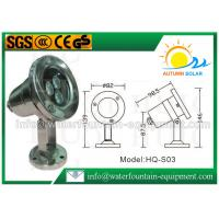 China Scaffolding Waterproof Led Fountain Lights Low Voltage 3W High Power 0.65kg wholesale