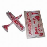 China Promotional Balsa Wooden Plane Toy, Measures 188 x 118 x 1.2mm, Customized Printings are Accepted wholesale