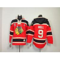 China NHL Chicago Blackhawks 9 Bobby Hull Red Hoodies Jersey Old Time Hockey wholesale
