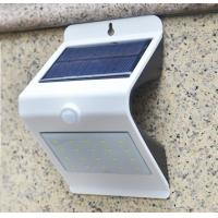 China NEW 24LED Triangle PIR Solar Sensor Motion Wall Light Fixture White Lampshade Warm White Back LED Outdoor Wall Mounted wholesale